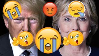 clinton-trump-with-emojis